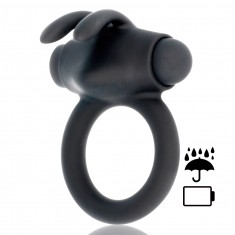 BLACK&SILVER AGRON COCK RING - 1