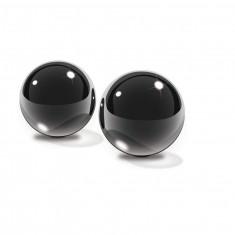 FETISH FANTASY LIMITED EDITION MEDIUM BLACK GLASS BEN-WA BALLS. - 1