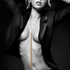 MAGNIFIQUE WHIP METALLIC CHAIN WHIP NECKLACE - 1