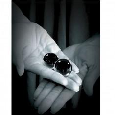 FETISH FANTASY LIMITED EDITION MEDIUM BLACK GLASS BEN-WA BALLS. - 3