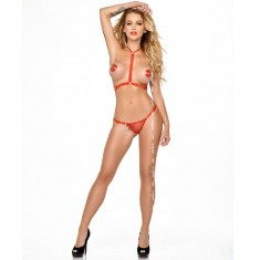 ME-SEDUCE GINNY 2 PIECES SET RED L/XL