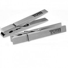 TOM OF FINLAND  PIN STAINLESS STEEL NIPPLE CLAMPS SILVER - 1