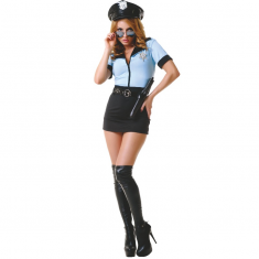 LE FRIVOLE - 02232 POLICE OFFICER COSTUME 5 PIECES SET S/M - 1