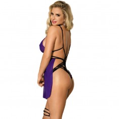 SUBBLIME UNCOVERED BACK PURPLE BABYDOLL S/M