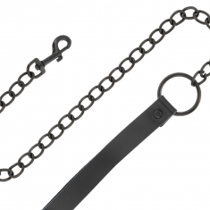 DARKNESS FULL BLACK COLLAR WITH LEASH - 1