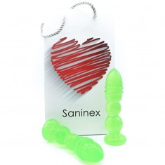 SANINEX DELIGHT PLUG-DILDO GREEN TRANSPARENT - 1