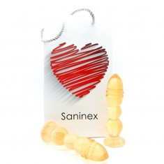 SANINEX DELIGHT PLUG-DILDO ORANGE TRANSPARENT - 1