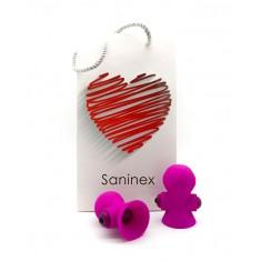 SANINEX SUCTIONER WORLD VIBRATOR&SUCTION CUP PINK - 1