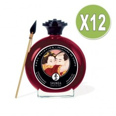 SHUNGA BODY PAINTING STRAWBERRIES AND CHAMPAGNE, PACK 12 UDS - 1