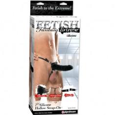 FETISH FANTASY EXTREME 18 CM SILICONE HOLLOW STRAP-ON - 1