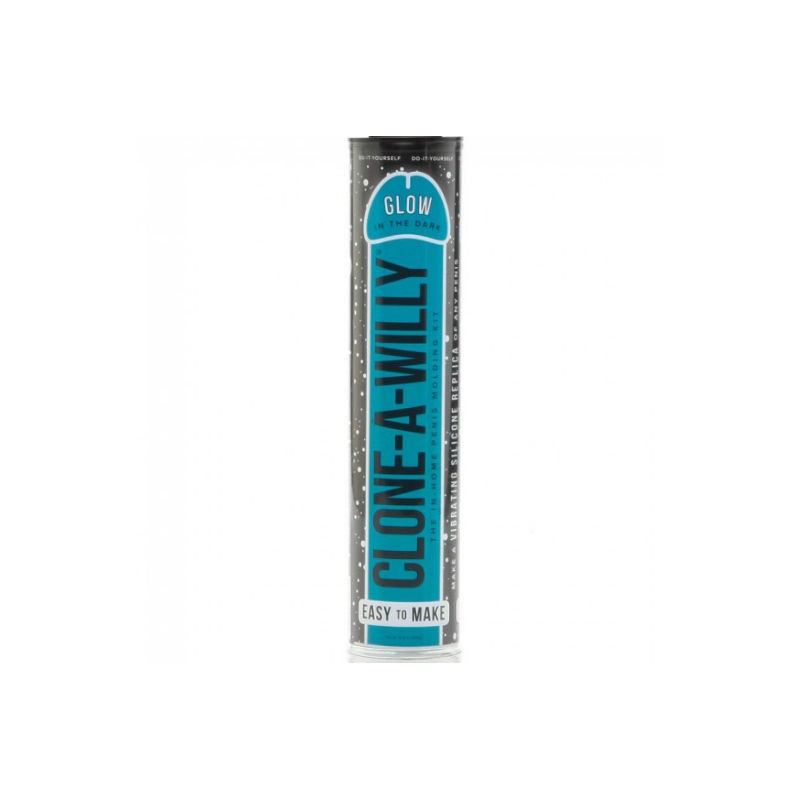 CLONE A WILLY  CLONE GLOW IN THE DARK BLUE VIBRATING KIT - 1