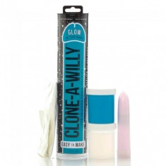 CLONE A WILLY  CLONE GLOW IN THE DARK BLUE VIBRATING KIT - 2