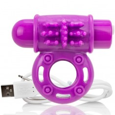 SCREAMING O VIBRATING RECHARGEABLE RING O WOW PURPLE - 1