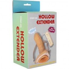 SEVENCREATIONS STRAP-ON HOLLOW EXTENDER VIBRATING