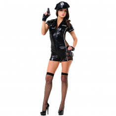 LE FRIVOLE - 02546 POLICE OFFICER COSTUME 6 PIECES SET L/XL - 1