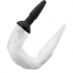 DARKNESS TAIL BUTT SILICONE PLUG -WHITE - 1