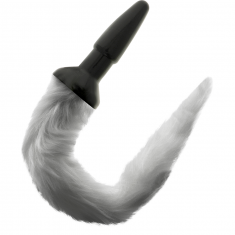 DARKNESS TAIL BUTT SILICONE PLUG - GRAY - 1