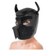 DARKNESS NEOPRENE DOG HOOD WITH REMOVABLE MUZZLE L - 1