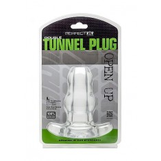 PERFECT FIT DOUBLE TUNNEL PLUG L LARGE - CLEAR