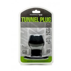 PERFECT FIT ASS TUNNEL PLUG SILICONE BLACK L