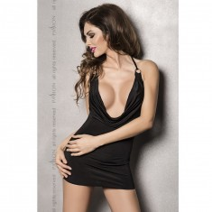 MIRACLE CHEMISE BLACK BY PASSION WOMAN LINGERIE L/XL - 1