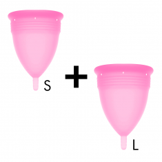 STERCUP MENSTRUAL CUP SIZE S + SIZE L PACK - PINK - 1