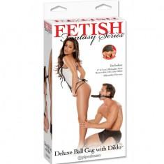 FETISH FANTASY SERIES DELUXE BALL GAG WITH DILDO - 1