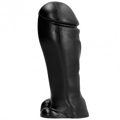 ALL BLACK DONG 22CM - 1