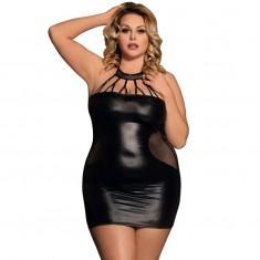 SUBBLIME QUEEN PLUS STRAPPY BLACK DRESS