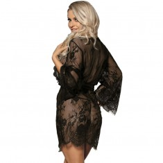 SUBBLIME LACE PEIGNOIR FLARED SLEEVES S/M