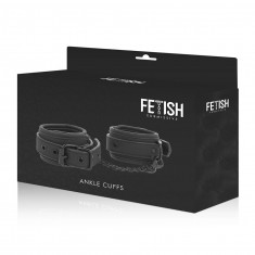 FETISH SUBMISSIVE ANKLE CUFFS VEGAN LEATHER - 2