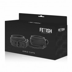 FETISH SUBMISSIVE ANKLE CUFFS VEGAN LEATHER - 4