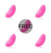 AMORESSA BLOSSOM PINK VIBRATOR 4+1 FREE - 1