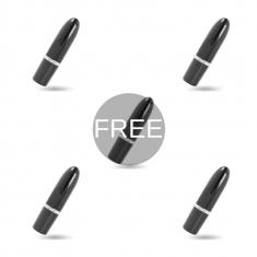 AMORESSA IVY VIBRATOR BLACK 4+1 FREE - 1