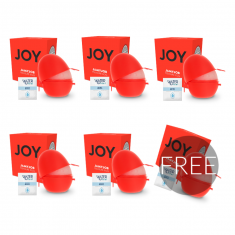 JAMYJOB EGG MASTURBATOR RED VERSION DISCRETT 5+1 FREE - 1