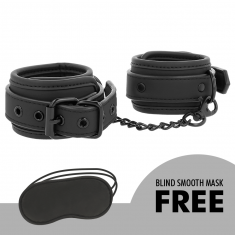 FETISH SUBMISSIVE ANKLE CUFFS VEGAN LEATHER - 5