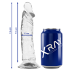 XRAY CLEAR COCK  19 CM X 4 CM - 1