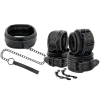 DARKNESS LEATHER AND HANDCUFFS BLACK - 1