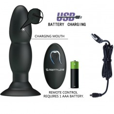 PRETTY LOVE PLUG WITH VIBRATOR AND ROTATION FUNCTIONS BY REMOTE CONTROL - 5