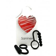 SANINEX DUPLO PLUG ANAL WITH RING - 1