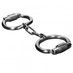 METAL HARD HANDCUFFS WITH COMBINATION LOCK - 1