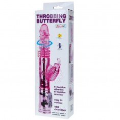 RECHARGEABLE VIBRATOR MULTIFUNCTION WITH CLIT STIMULATING THROBBING BUTTERFLY - 9