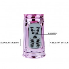 RECHARGEABLE VIBRATOR MULTIFUNCTION WITH CLIT STIMULATING THROBBING BUTTERFLY - 10