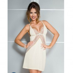 CASMIR CONNIE CHEMISE CREAM COLOR SIZE XXL/XXXL - 1
