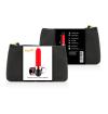 COQUETTE  VIBRATOR RECHARGEABLE LIPSTICK BLACK/ GOLD - 1