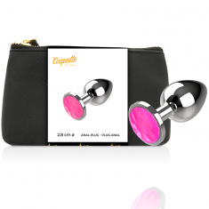 COQUETTE ANAL PLUG METAL PINK SIZE S 2.7X 8CM - 1