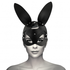 COQUETTE VEGAN LEATHER MASK WITH BUNNY EARS - 1