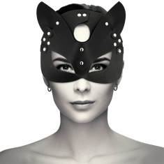 COQUETTE VEGAN LEATHER MASK WITH CAT EARS - 1