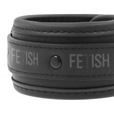 FETISH SUBMISSIVE ANKLE CUFFS VEGAN LEATHER - 8