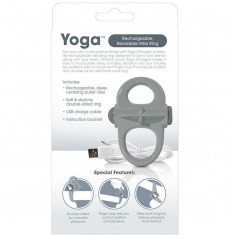 SCREAMING O RECHARGEABLE AND VIBRATING RING YOGA GREY - 3